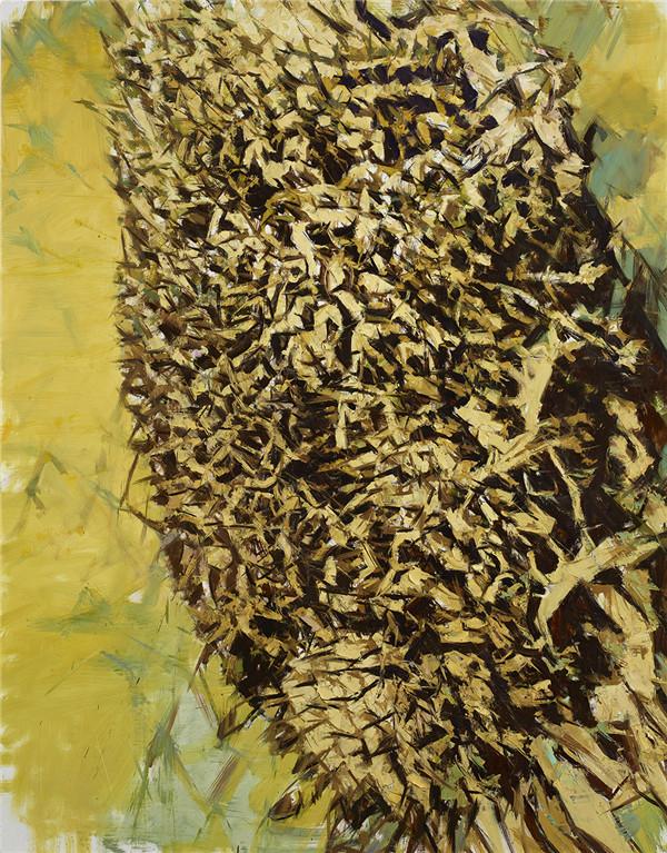烟村Ⅰ布面油画Ⅰ200cm×156cmⅠ2018.4