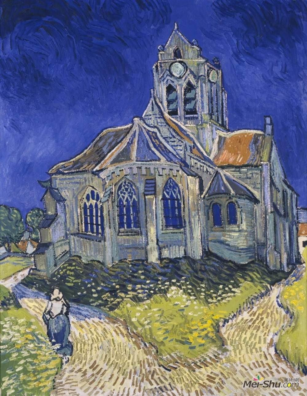 梵高高清作品赏析教堂系列图片