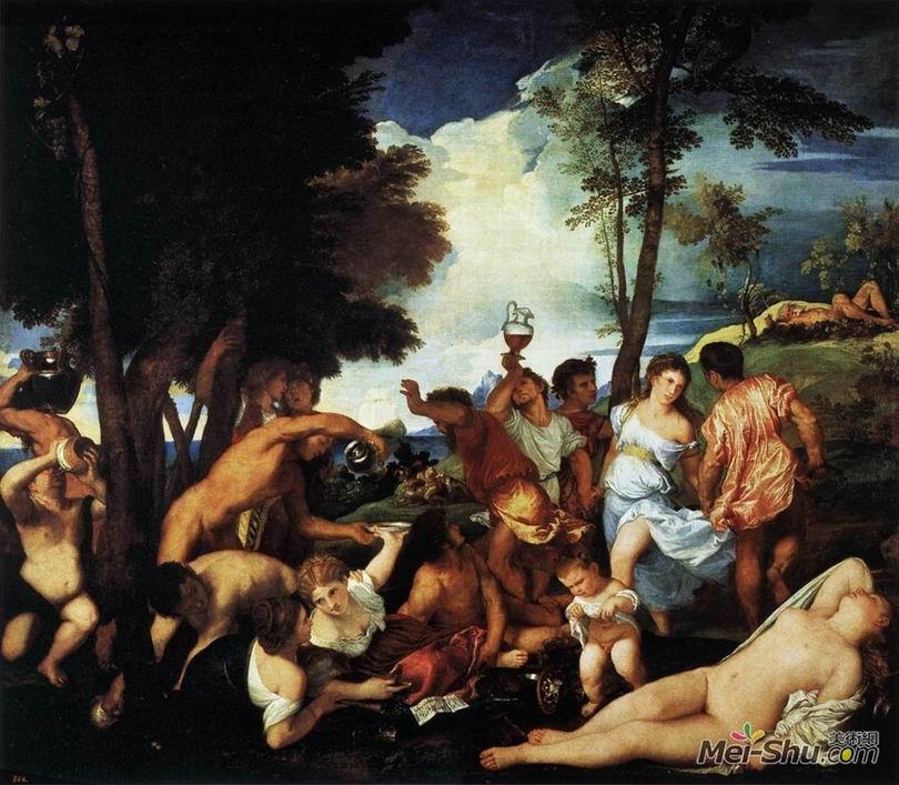 提香Titian作品 酒神祭﹝The Andrians﹞