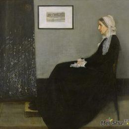 詹姆斯·阿博特·麥克尼爾·惠斯勒高清作品《灰與黑的協奏曲:畫家母親肖像》