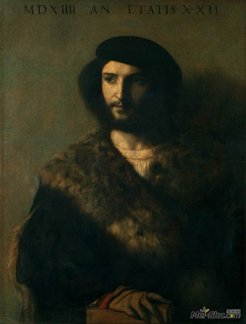 提香Titian作品 病容男子
