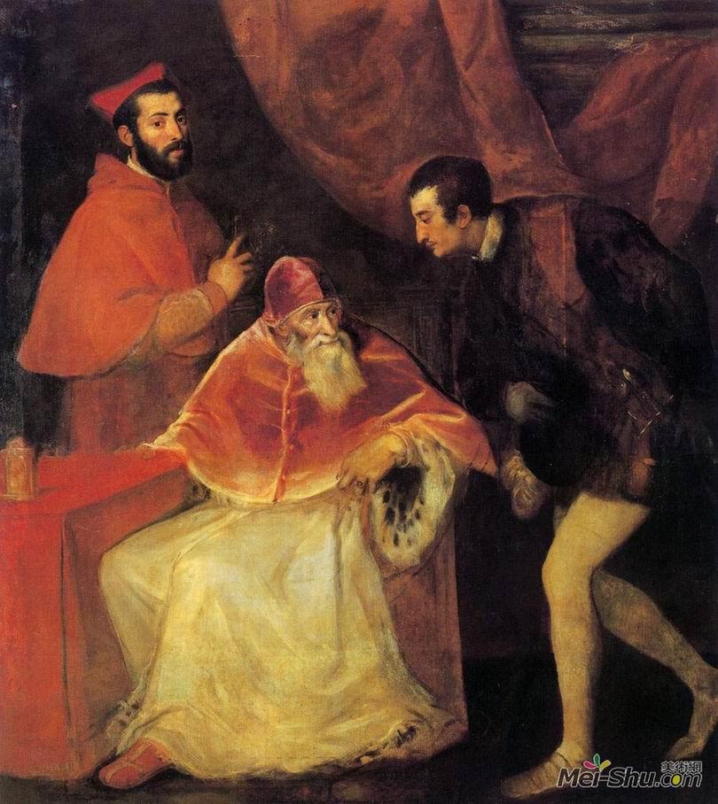 提香Titian作品 教皇和他的孙子们