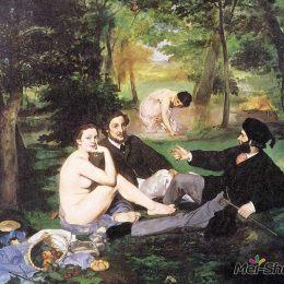 愛德華·馬奈高清作品《草地上的午餐》