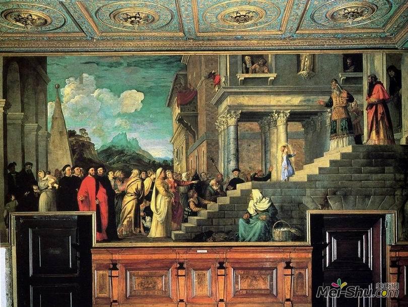 提香Titian作品 圣母的神殿奉献