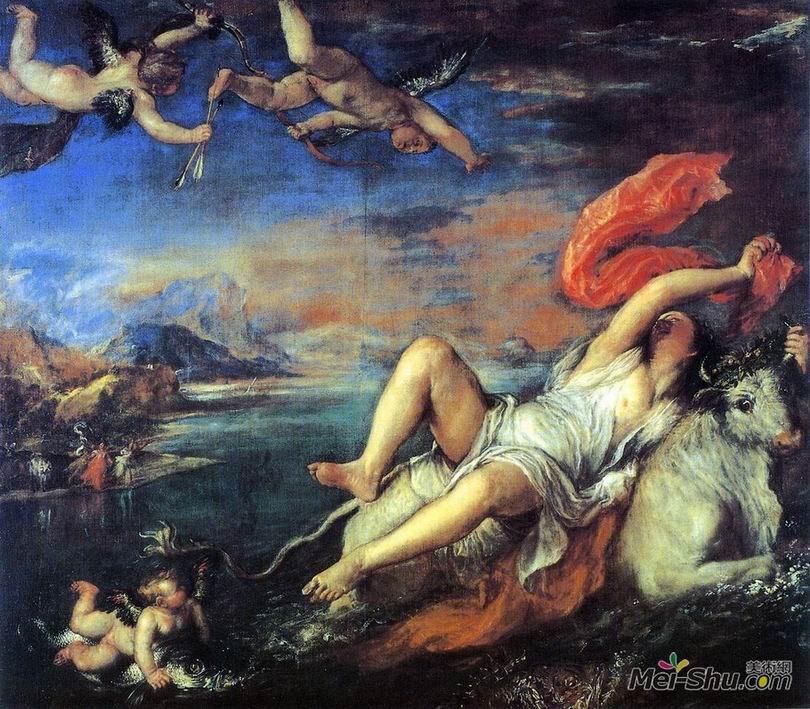 提香Titian作品 劫夺欧罗巴