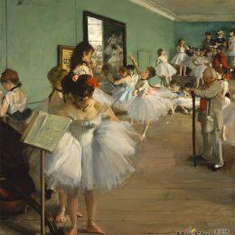 埃德加·德加高清作品《舞蹈考試》