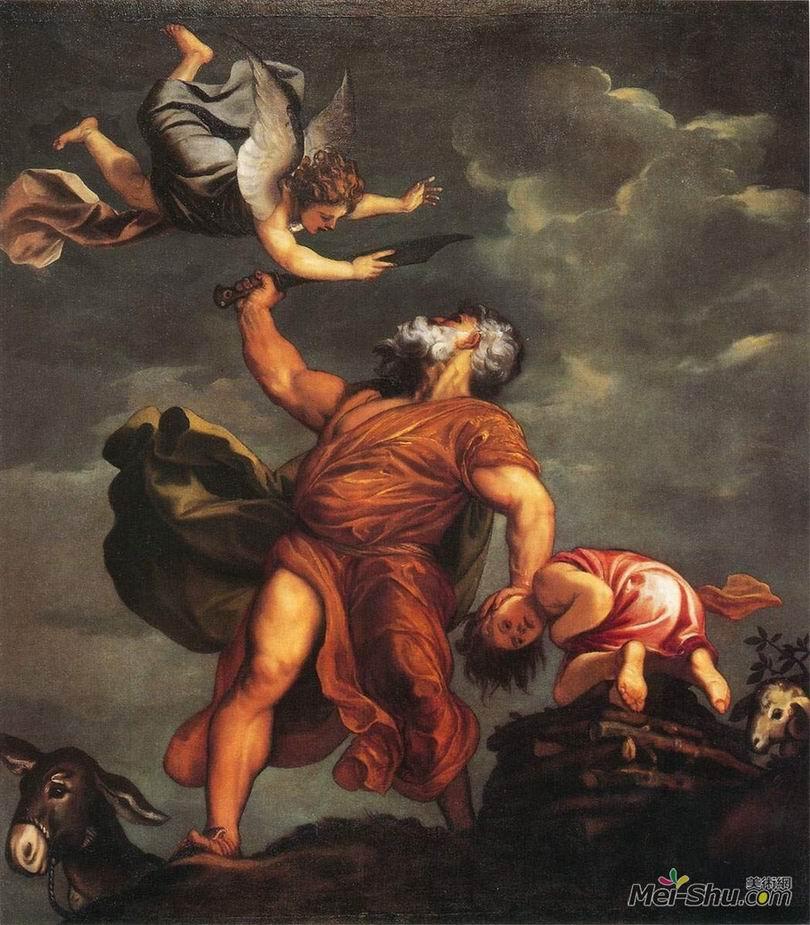 提香Titian作品 伊赛克的祭献