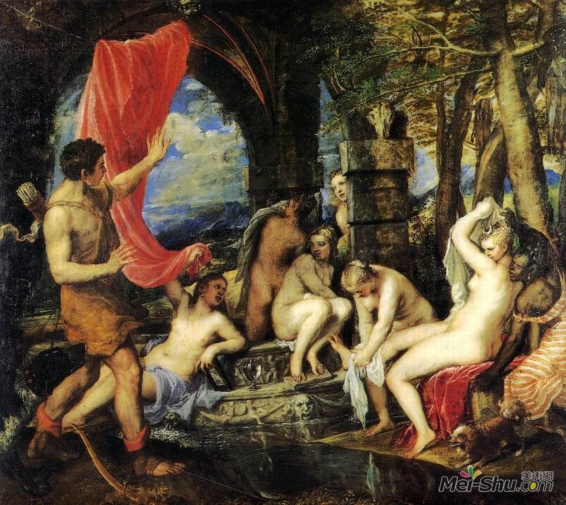 提香Titian作品 戴安娜和阿戴奥纳