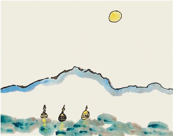 小柚子涂鸦三潭印月
