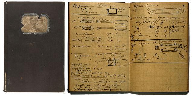 居里夫人的实验笔记本,如今依然带着强烈放射性,不得不被保存在铅盒里。