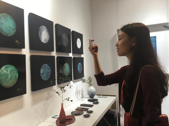五玄土艺术团队展出的作品引人注目