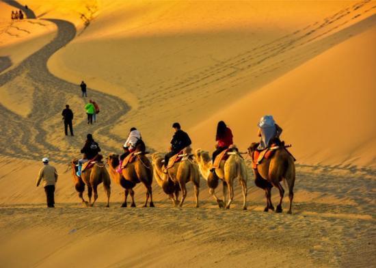 敦煌大漠秋景