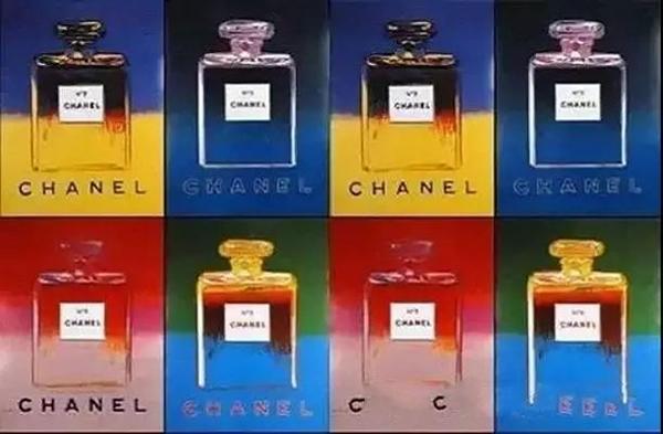 Andy Warhol创作的CHANEL5号香水海报