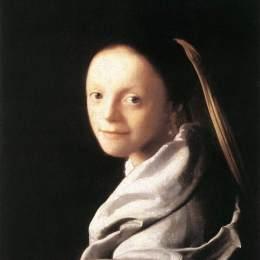 維米爾高清作品《年輕女子肖像》
