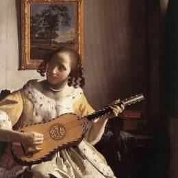维米尔高清作品《吉他演奏者》