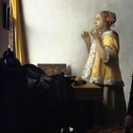 维米尔高清作品《戴珍珠项链的年轻女士》